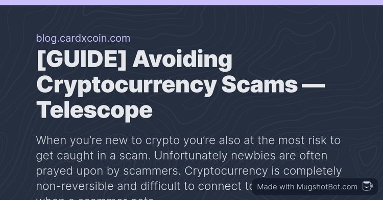 Avoiding Cryptocurrency Scams